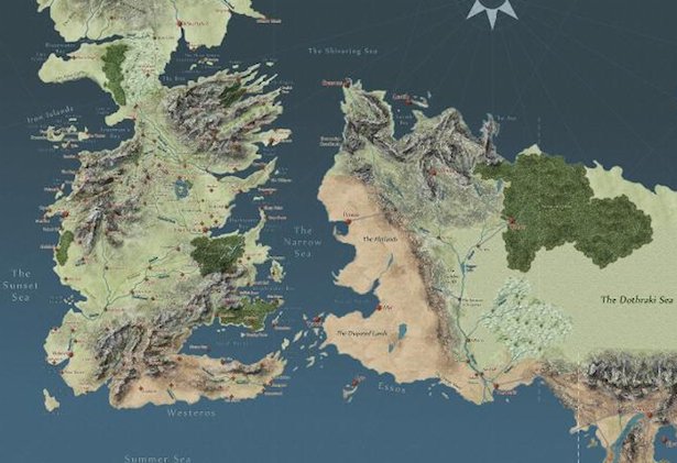 Mapa Swiata Gry O Tron Kartografia Pl Mapy I Plany W Sieci