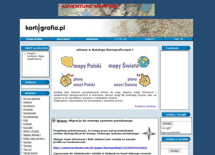 kartografia.pl w wersji PhpNuke