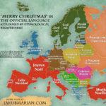 Wesołych Świąt w oficjalnych językach krajów Europy [mapa]