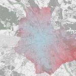 Mapa atrakcyjności komunikacyjnej Warszawy