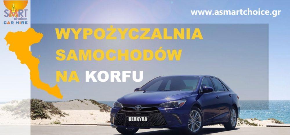 Wypożyczalnia samochodów na Korfu